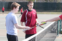 Adam Derengowski (left) and Ty Butler were IU East's most productive doubles team.