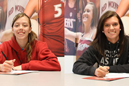 Jessica Cordell (left) and Shawna Phelps will golf for IU East.