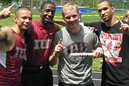 IU East's 4x100 meter relay team won the KIAC title.