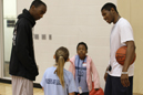 Bakari Smith (left) and Marcus Isaac have advice for Third Grade Academy students