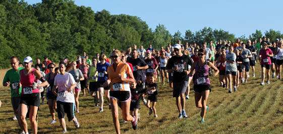 A field of at least 490 took part in the Run with the Wolves.