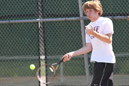 Ethan Taulbee played No. 6 singles for the Red Wolves.